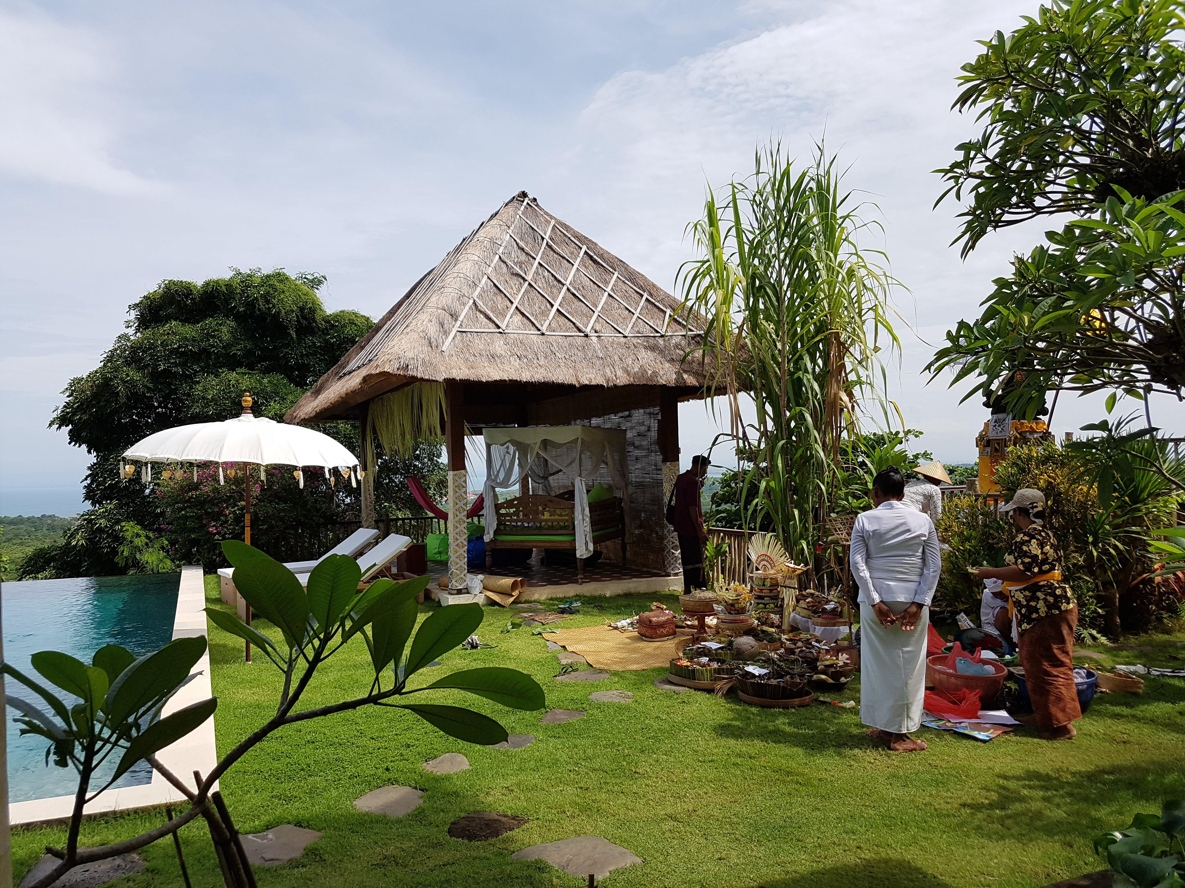 Balinesische traditionelle Hütte