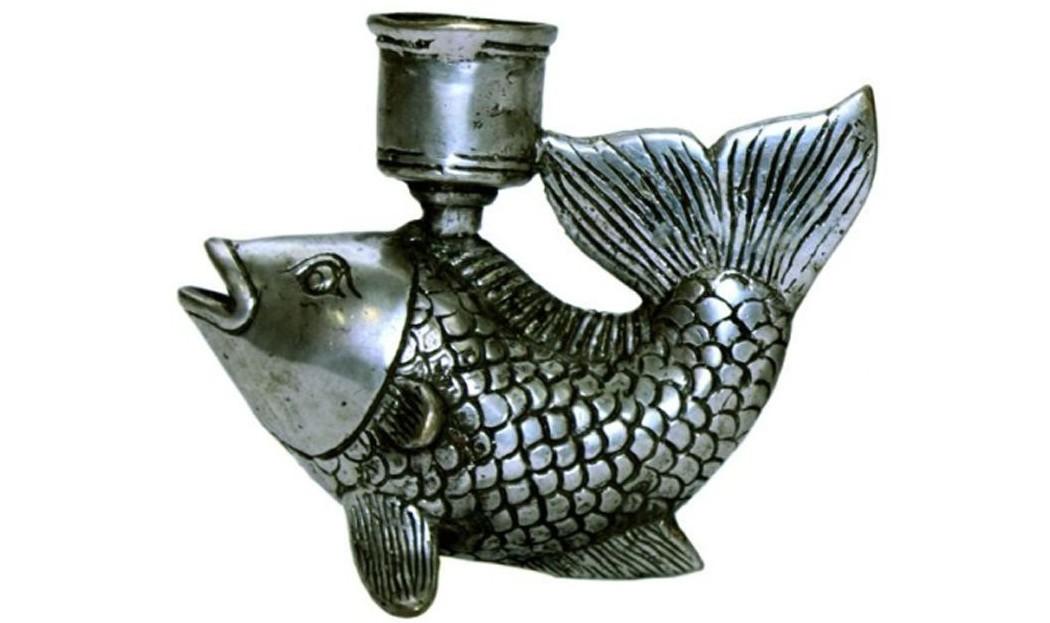Fisch mit Kerzenhalter