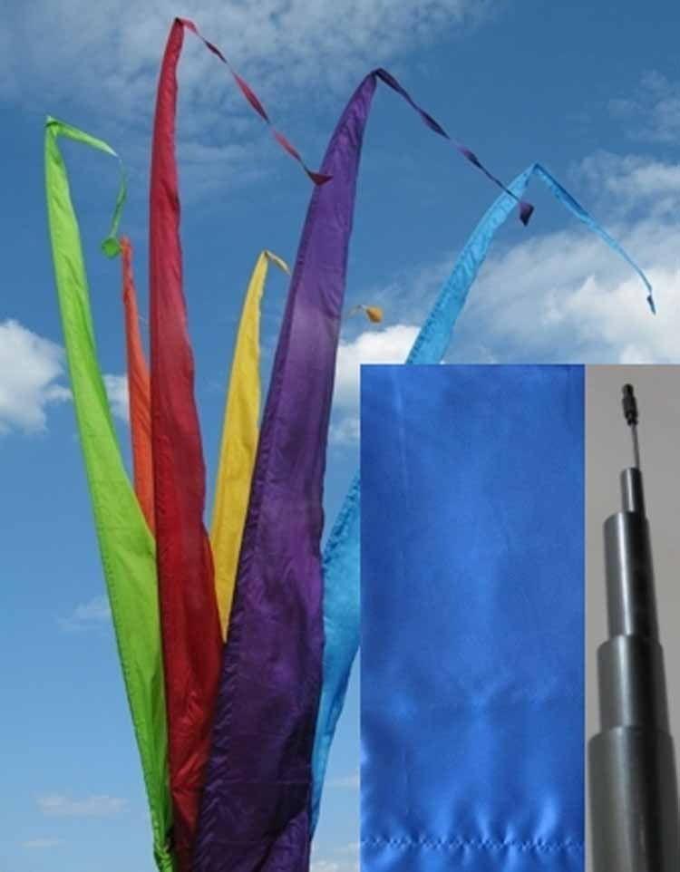 Fahne blau einschl. Teleskopstange, 700 cm