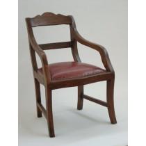 Stuhl Leder 1830 mit Armlehne