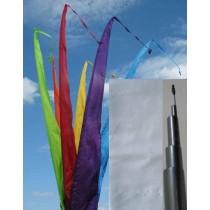 Fahne weiss einschl. Teleskopstange, 300 cm