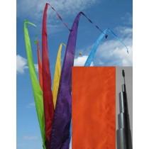 Fahne orange einschl. Teleskopstange, 300 cm