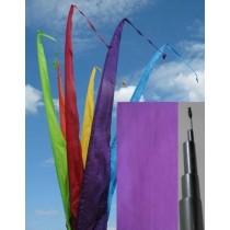 Fahne violett einschl. Teleskopstange, 300 cm