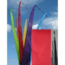 Fahne rot einschl. Teleskopstange, 300 cm