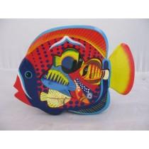 Puzzle Fisch, handbemalt