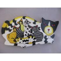 Puzzle Katze, handbemalt