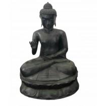 Buddha sitzend, patiniert
