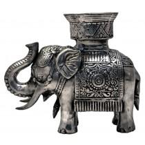 Elefant, stehend mit Kerzenhalter