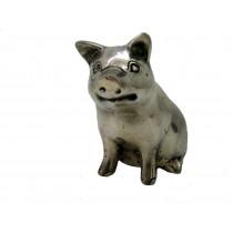 Glücksschwein, sitzend