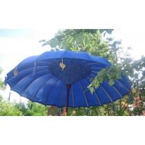 NEU, grosser blauer Sonnenschirm, ca. 250 cm Durchmesser