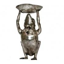 Frosch mit Schale, 53 cm hoch