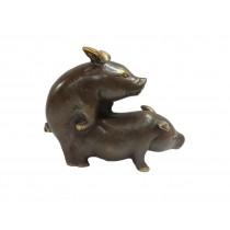 Schweinehochzeit bronziert