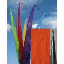 Fahne orange einschl. Teleskopstange, 700 cm