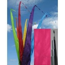 Fahne pink einschl. Teleskopstange, 700 cm