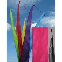 Fahne pink einschl. Teleskopstange, 500 cm