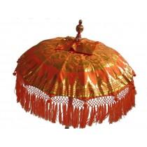 Tempelschirm, ca. 80 cm, Orange mit Golddruck