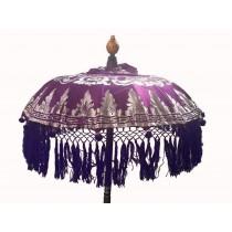 Tempelschirme, ca. 80 cm, Violett mit Silberdruck