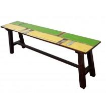 Plankenbank grün/ gelb
