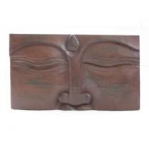 Relief Buddha, braun
