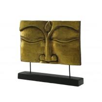 Relief Buddha mit Ständer, gold