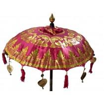 Tempelschirme, ca. 90 cm, Pink mit Golddruck