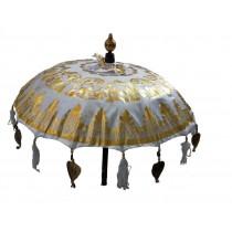 Tempelschirme, ca. 90 cm, Weiss mit Golddruck