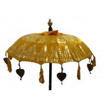 Tempelschirme, ca. 90 cm, Gelb mit Golddruck
