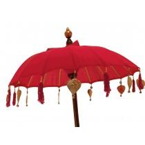 Tempelschirm ca. 90 cm Rot