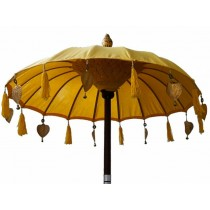 Tempelschirm ca. 90 cm, Gelb