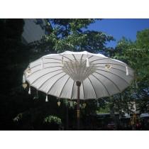Sonnenschirm ca. 180 cm, Natur/Weiss