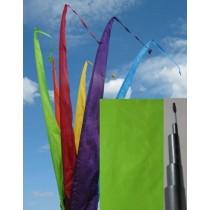 Fahne hellgrün einschl. Teleskopstange, 500 cm