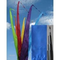 Fahne blau einschl. Teleskopstange, 300 cm