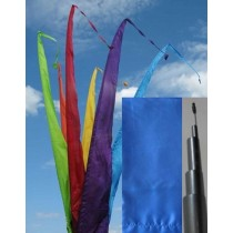 Fahne blau einschl. Teleskopstange, 500 cm