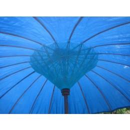 NEU, grosser hellblauer Sonnenschirm, ca. 250 cm Durchmesser