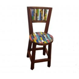 Stuhl mit runder Sitzfläche