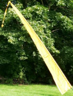 Fahne gelb einschl. Teleskopstange, 500 cm